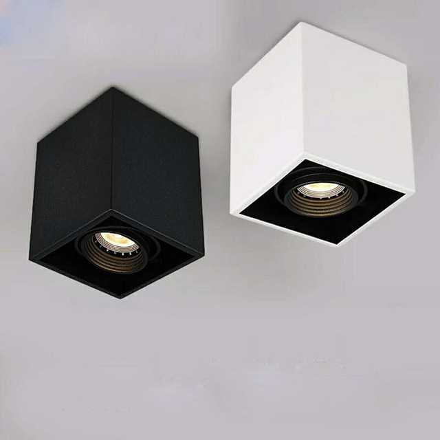 Superfície de alta qualidade Montado 4 ajuste de azimute LED COB Downlights 85-265 V 10 w 15 W LEVOU Teto luz do Ponto da lâmpada