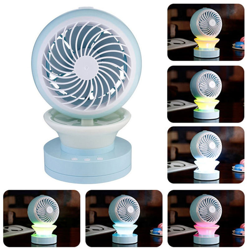 NEW Portable Outdoor Mini Fans with LED Lamp Light Table USB Fan Spray Water Humidifier Personal Air Cooler Conditioner for Home
