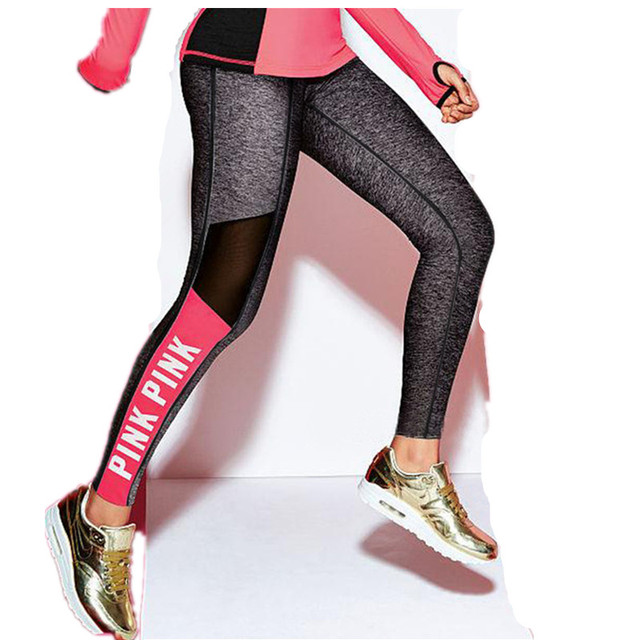 Hot Sale 2016 Women Work Out Casual Leggings Solid English Letter Print Elasticity Leggings Fitness Sexy Modal Breathable pants