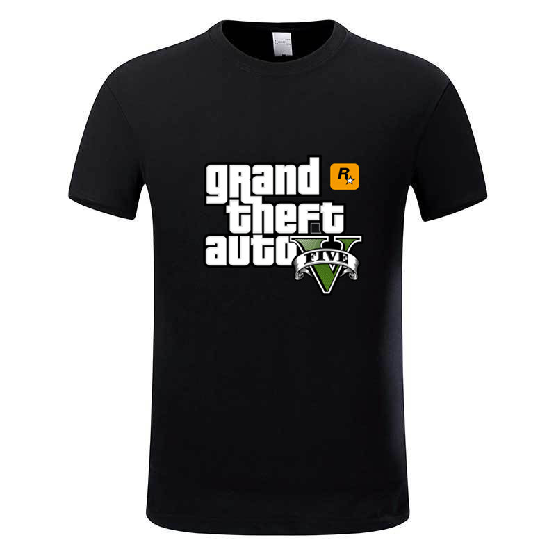 Game Gta 5 Cotton T-shirts Grand Theft Auto T shirt Camisetas Hombre Gta Vice City Tee shirt Homme,GMT005