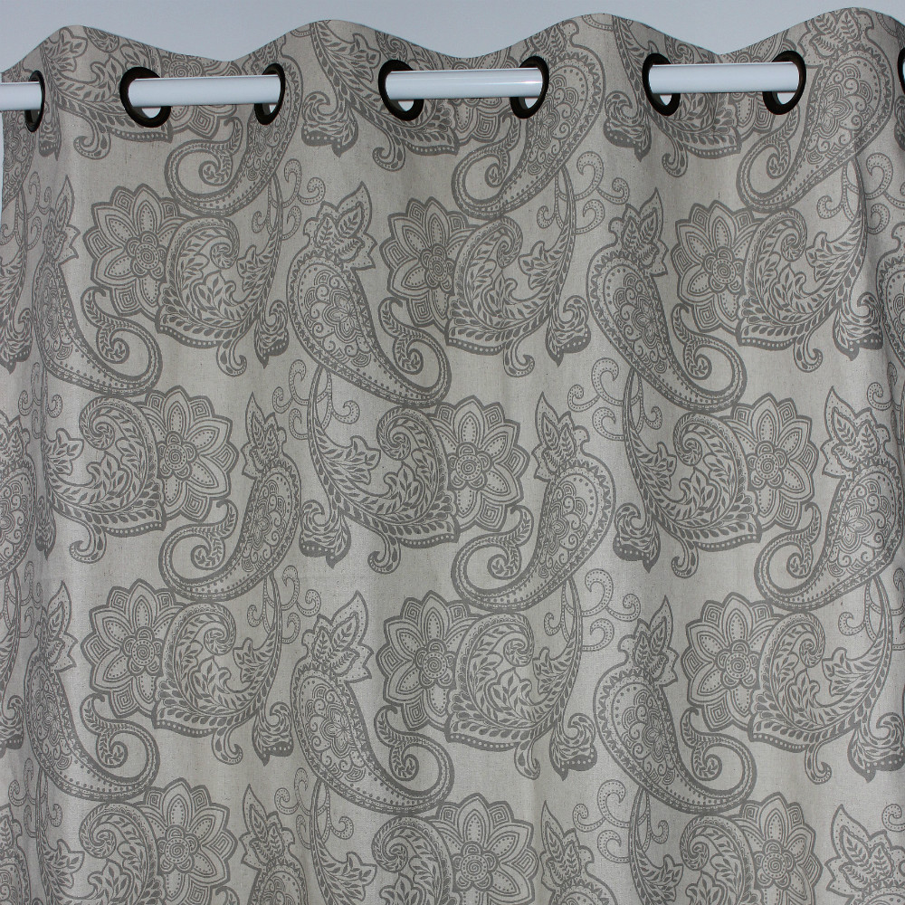 Cheap grey curtains - Grey Paisley Curtains