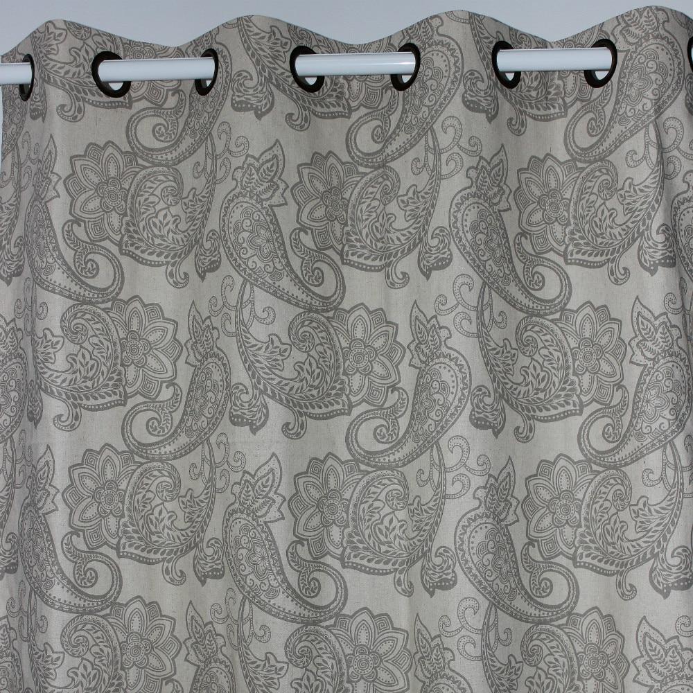 nuevos l venta al por mayor gris paisley cortinas de lino para ventana tienda saln dormitorio puerta exterior casa decor