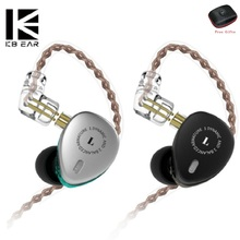 KB06 2BA+1DD Mini Hybrid Drivers HIFI Headset Earphone DJ Monitor In Ear Sport Earphone Earbuds With 0.75 2PIN Cable  Metal kz zs6 eight driver earphone 2dd 2ba dynamic and armature in ear hifi stereo sport headset detachable bluetooth upgrade cable