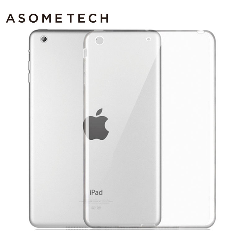 For iPad Air 1 2 pro9.7 10.5 Soft TPU Tablet Back Case Silicone Transparent Cover For iPad 234  Mini 123 Crystal Protective Capa silicon case for ipad air 2 air 1 clear transparent case for ipad 2 3 for ipad 4 mini mini 4 soft tpu back cover tablet case