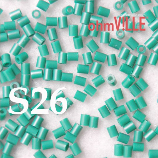 Wow ! USD 2.08 - 3mm Perler Beads(S26)... 26 Different Color Hama Beads, Guaranteed 100% Quality / Green + Free Shipping!