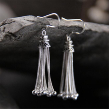 Brand New Fashion Statement Luxury 925 Sterling Silver Jewelry Beads Chain Tassels Dangle Earrings For Women Girls Party