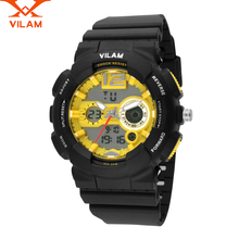 VILAM font b Luxury b font brand Men business Watch Fashion Military casual Watches Dual Display