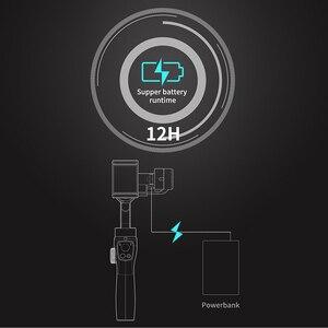 Image 5 - Funsnap Caputure 2 Smartphone 3 Achse Gimba Action Kamera Gimbal für IOS Andriod Gopro 7 6 5 EKEN Yi Gimbal kit mit LED Mic
