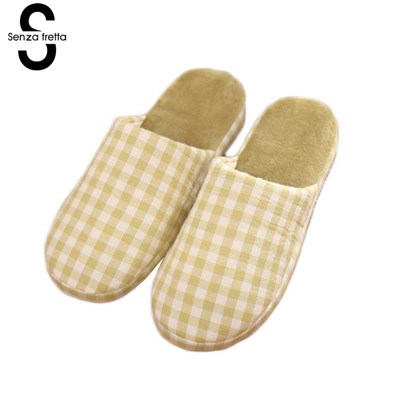 Senza Fretta Woman Slippers Winter Warm Thick Bottom Slippers For Lovers Women Indoor Soft Indoor House Slippers Chanclas Mujer senza fretta women shoes new summer pvc slippers couples women anti slip home slippers indoor soft bottom women slippers