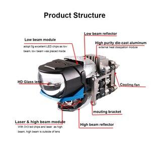 Image 2 - Sanvi 2.5 インチL81Cバイled & レーザープロジェクターレンズヘッドライト 85 ワット 6000 18kレーザー車のヘッドライト車のライトレトロフィット