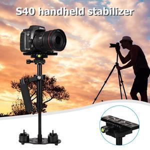 Image 5 - S40 אלומיניום סגסוגת כף יד DSLR מייצב נייד אנטי לנער טלפון מחזיק הר מצלמה מייצב תמונה DSLR אבזרים