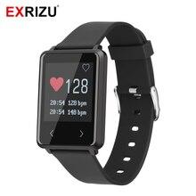 Exrizu TK002 Bluetooth SmartBand IP67 Smart Band монитор сердечного ритма браслет будильник шагомер браслет для IOS Android