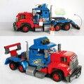 Nuevo Camión de Transporte de Coches de Ingeniería de Construcción Bloques de Construcción de Ladrillos Aclare Los Juguetes Para Los Niños Regalo Birhthday Legoe Ciudad