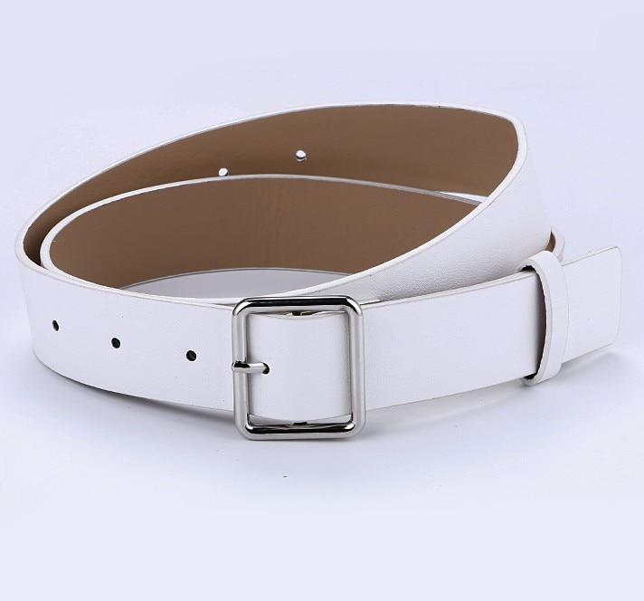 Горячая распродажа! женский ремень с пряжками и пряжками, с золотой пряжкой, для джинсов, для женщин, модные, студенческие, простые, повседневные брюки - Цвет: style 2 silver white