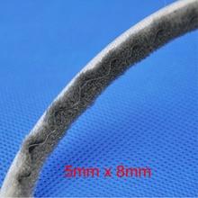 5mm x 8mm Aluminum door window slot wool brush sliding seal dust proof strip