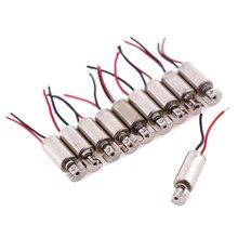 5/10pcs/lot DC Micro Vibration Motor Cell Phone Coreless Vibrator 4.4x4.4mm DC1.5-3V Motors & Parts Wholesale