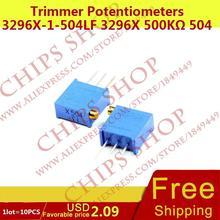 1 ЛОТ = 10 ШТ. Триммер Потенциометры 3296X-1-504LF 3296X 500 Ком 504 500000ohm Series3296X переменный резистор
