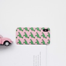 Dinosaur Animal Patterned Hard Case For Iphone 6 6s 7 8 Plus x Xr Xs Max Back Cover