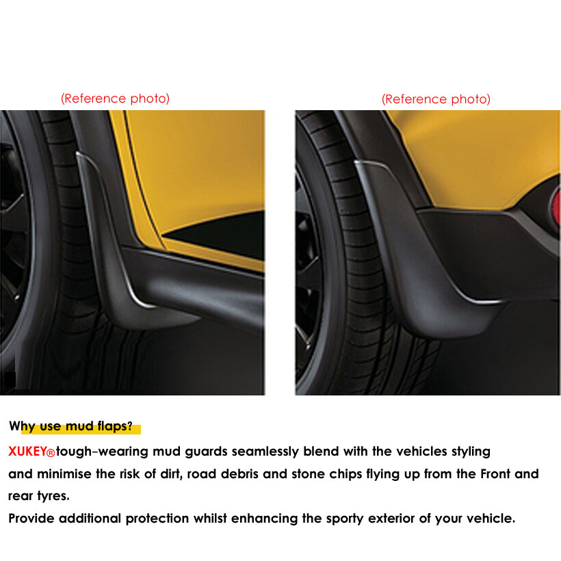 Image 2 - Genuine XUKEY Car Mud Flaps For Audi A3 A4 A6 (8E 8P B6 B7 C6) Mudflaps Splash Guards Mud Flap Mudguards Fender Car Accessories-in Mudguards from Automobiles & Motorcycles