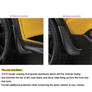 Image 2 - אמיתי XUKEY רכב בוץ דשים עבור אאודי A3 A4 A6 (8E 8P B6 B7 C6) mudflaps משמרות Splash בוץ דש מגני בץ פגוש אביזרי רכב