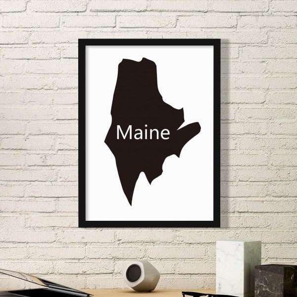 United States Map Picture Frame.Online Shop Vermont Utah United States America Usa Map Stars Stripes