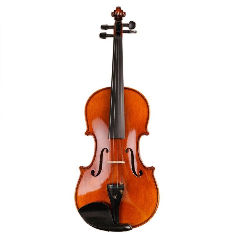 Профессиональная скрипка ручной работы 4/4 акустическая скрипка из натурального дерева скрипка с чехлом бесшумный бант ручной масляный лак