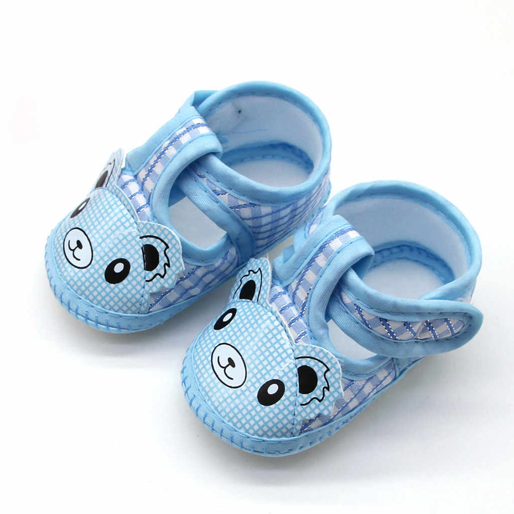 Letnie buty dla niemowląt nowonarodzone dziewczynki Cartoon Little Bear Prewalker miękka podeszwa szopka buty pojedyncze buty dziecięce mokasyny first walker