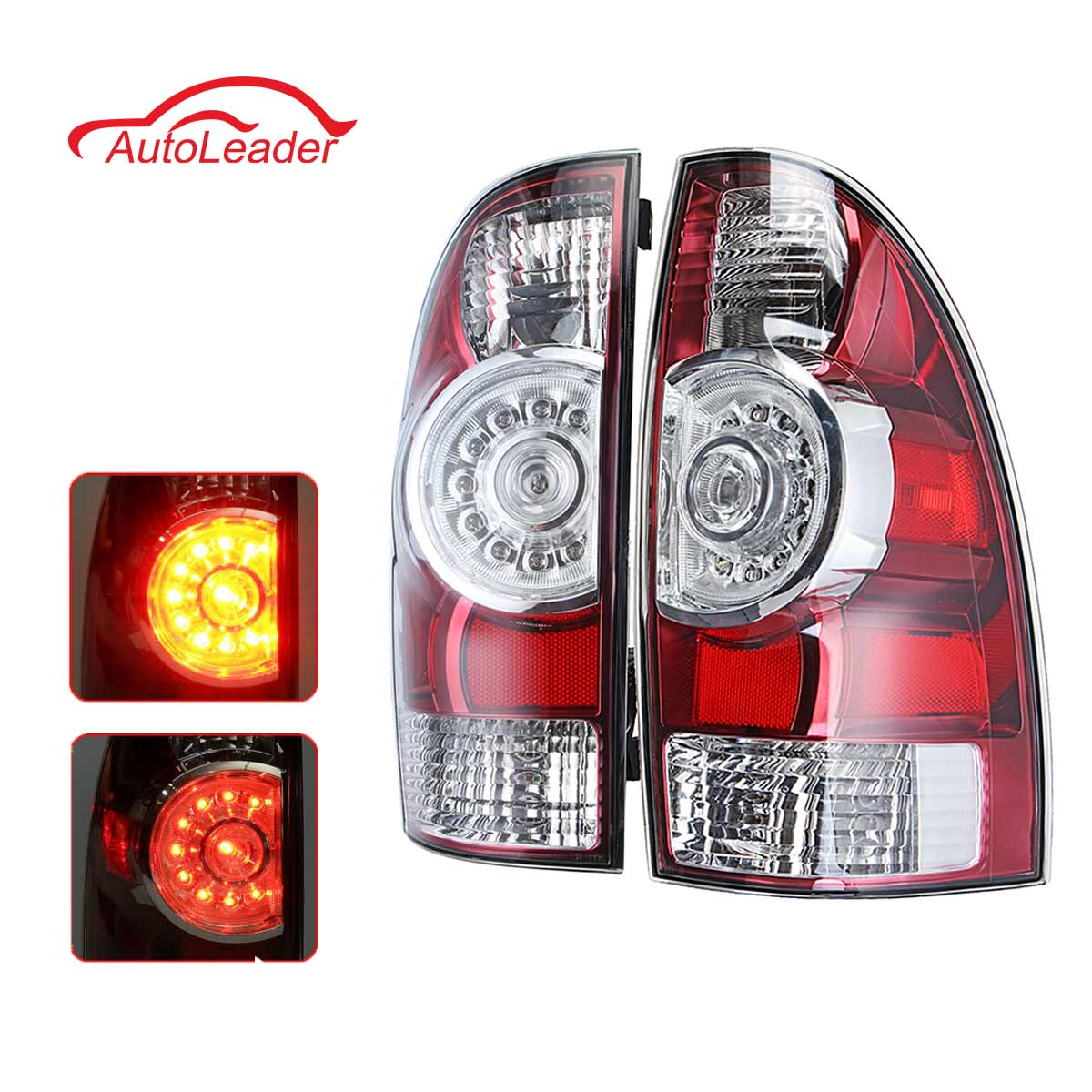 Car Rear LED Tail Light Brake Lamp Left/ Right For Toyota Tacoma Pickup 2005 2006 2007 2008 2009 2010-2015 8156004160 8155004150