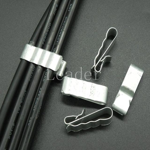 500 teile/los 304 Material Große größe 4x4mm2 PV Kabel Clip/Klemme ...