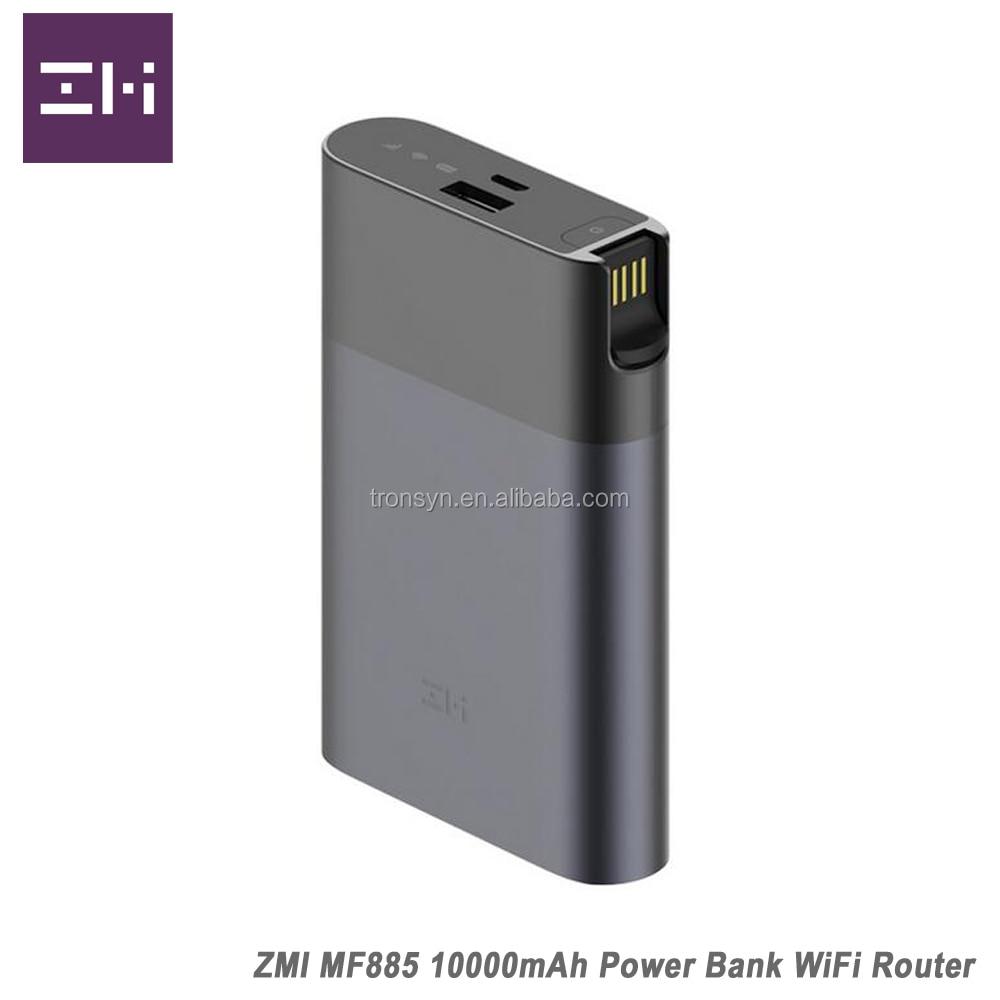 ZMI MF885 3g 4g de Banque de Puissance de Routeur WiFi Avec 10000 mah Batterie Et QC2.0 Charge Rapide