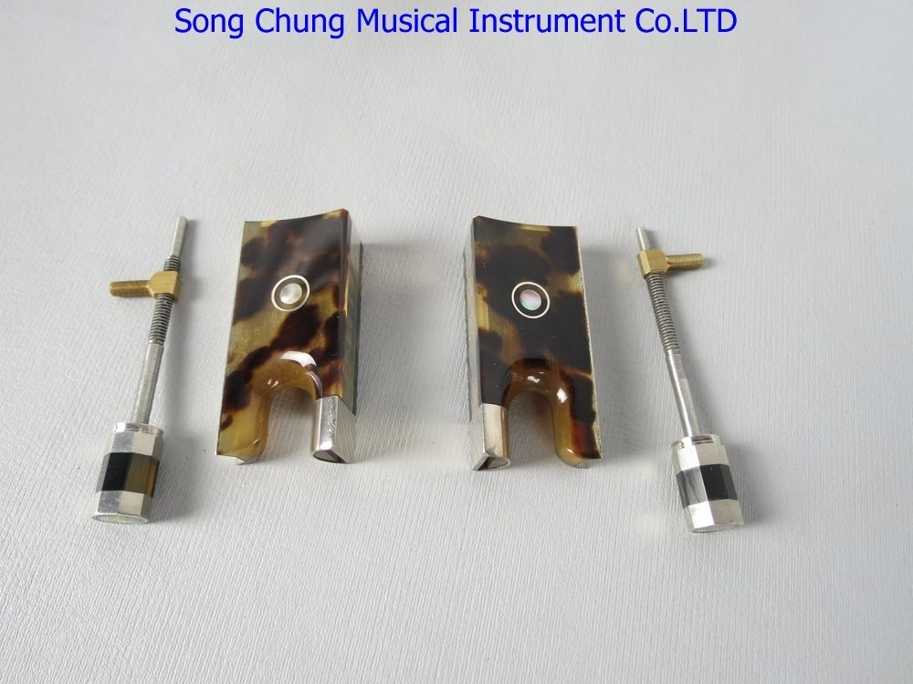 High Quality Advanced 2 Pcs 4/4 Violin Bow Frogs With Silver Mount
