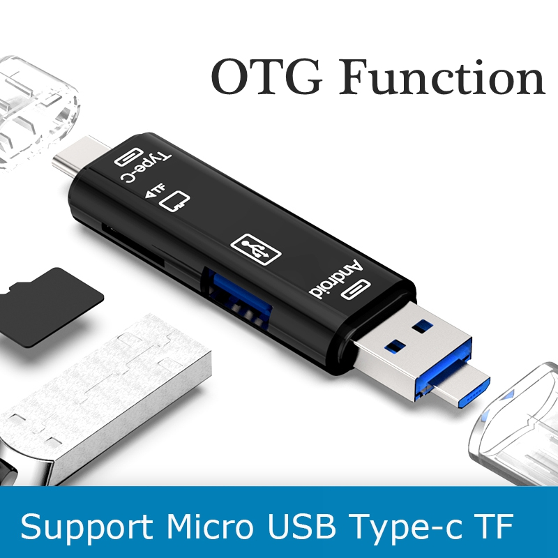 Universal 5 In 1 USB OTG Card Reader Driver High-speed USB2.0 TF/SD T-Flash TF Memory Reader For Android PC Extension Headers