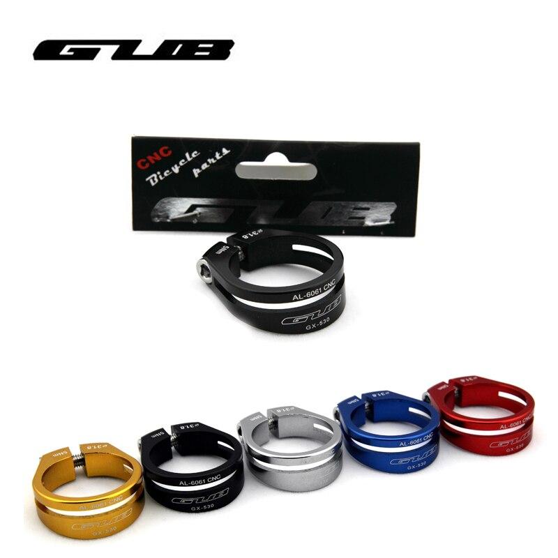 GUB Ultra light Bicycle <font><b>Seat</b></font> Post Clamp <font><b>Seat</b></font> Tube Clamp, CNC machined MTB Mountain Bike Seatpost Camp 31.8mm//34.9mm 15g
