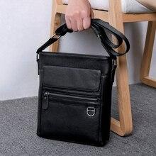 BAQI Brand Men Handbags Genuine Leather Soft Cowhide High Quality Shoulder Bags Crossbody Bag 2019 Fashion Business