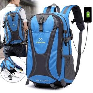 Image 4 - 35L Männer Nylon Wasserdicht Unisex Outdoor Bergsteigen Wandern Klettern Camping Rucksäcke sport Unisex taschen reisetasche für männliche