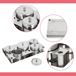 Image 5 - Stainless Steel Nail Art Mini Powder & Liquid Set Cans Storage Box Compact Manicure Tools UV Disinfection Sterilizer Box