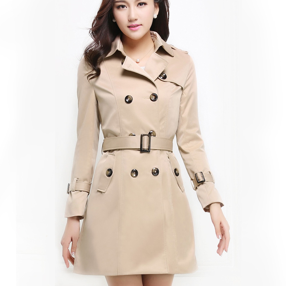 Nueva moda 2015 Classic mujeres abrigo de otoño estilo