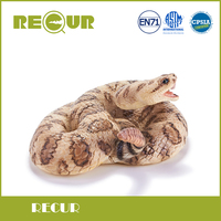 Recur Rattlesnake High Simulation Model soft PVC Toy Wild Animal Action Figures Toy Collection Gift For kids and collectors
