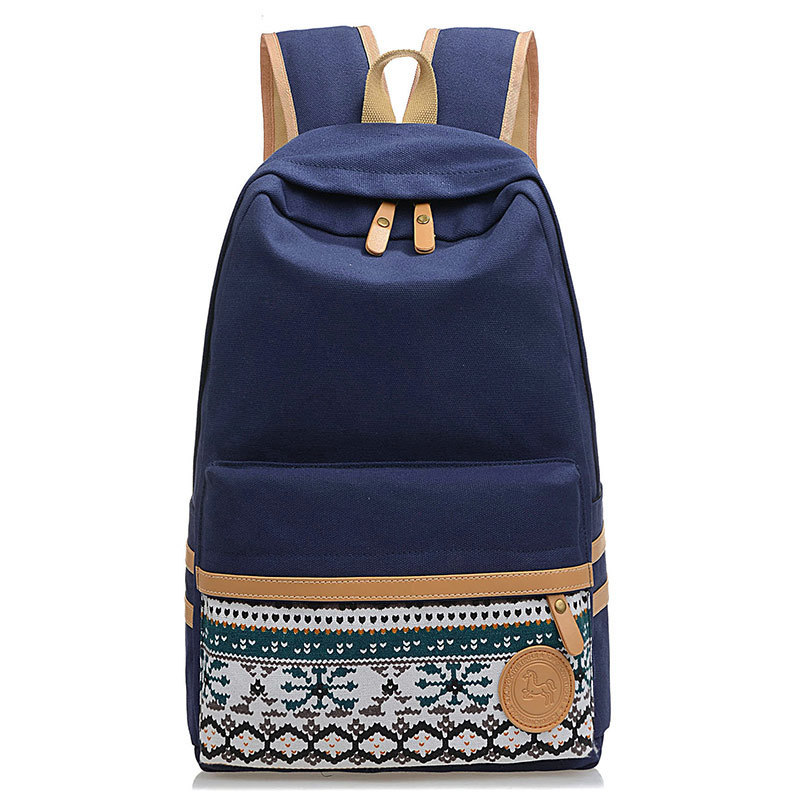 Fashion Women s National Wind Canvas Travel Satchel Shoulder Bag Backpack  School Rucksack Student Boy Girl Bag 9df520113496a