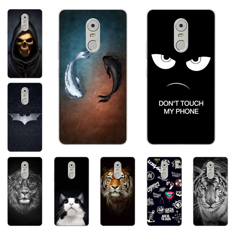 lenovo k6 note case,Silicon Gossip fish Painting Soft TPU Back Cover for lenovo k6 note protect Phone shell