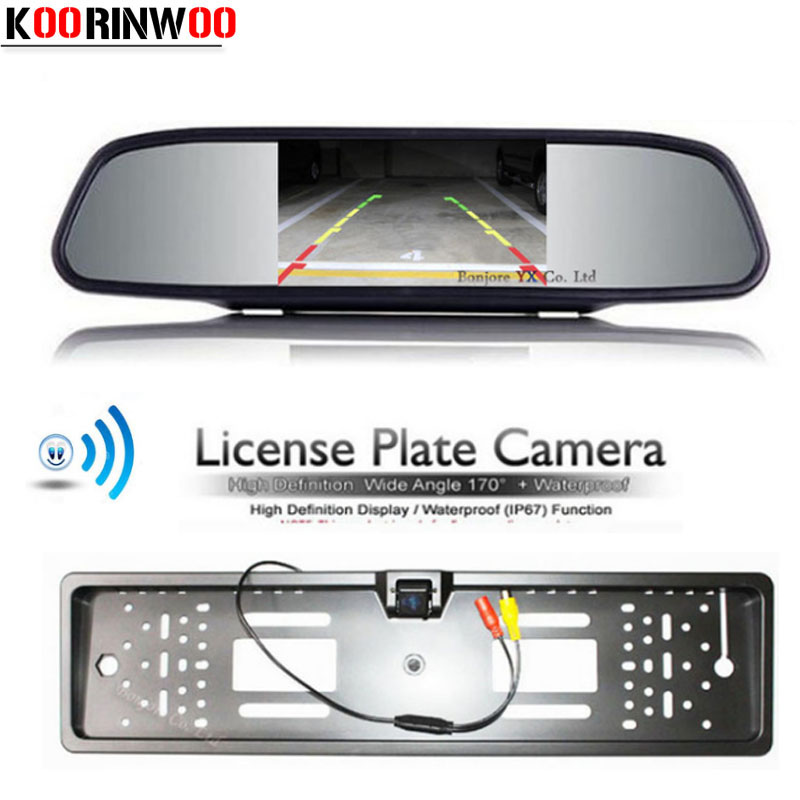 Koorinwoo Einparkhilfe Wireless HD 800*480 Spiegel Monitor Für Auto ...