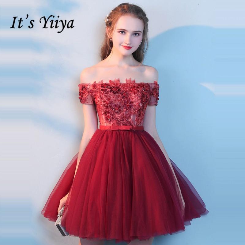 Its Yiiya Cocktail Dresses Plus Size Boat Neck Sleeveless 2018
