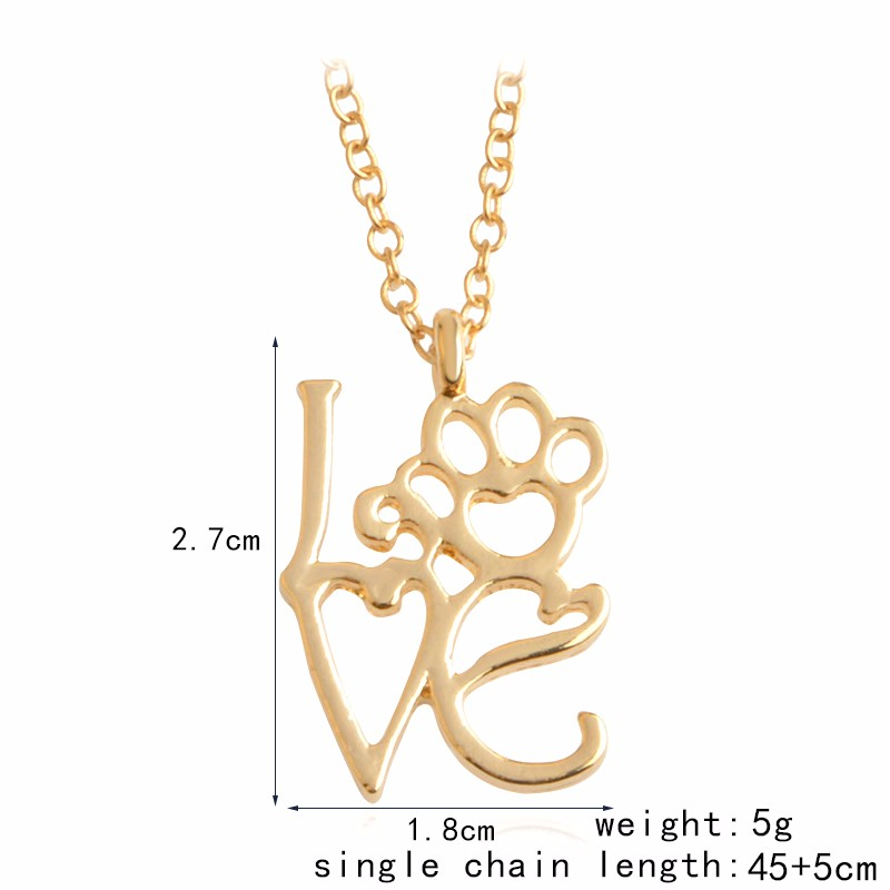 I Love Paw Necklace 3