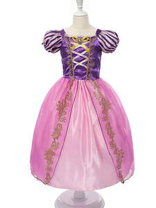 Rapunzel Princess Dresses Customes Aurora-Frocks Snow-White Cosplay Sleeping Beauty Girls