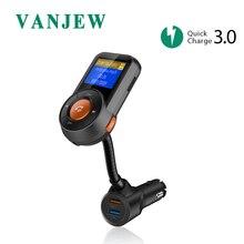 VANJEW BT76 Bluetooth fm-передатчик Беспроводной радио адаптер Hands-Free Car Kit QC3.0 и Smart 2.4A Dual USB Порты и разъёмы автомобиля mp3 плеер