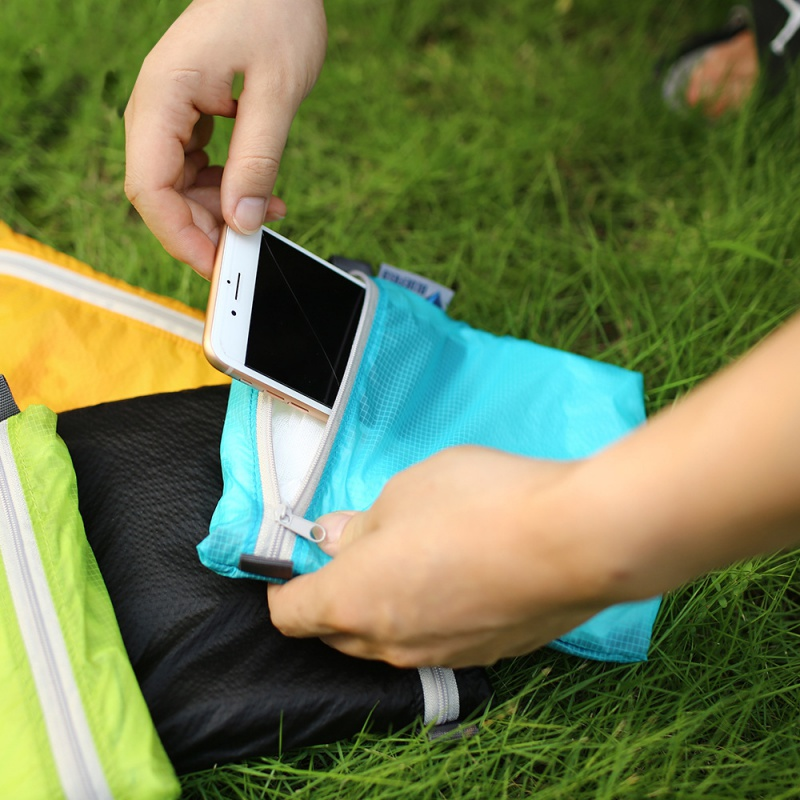 Outdoor Sport Bag Waterproof Bag & Hook Zipper Storage bag Pocket Pouch for Camping Hiking Drift Diving Swimming Bag