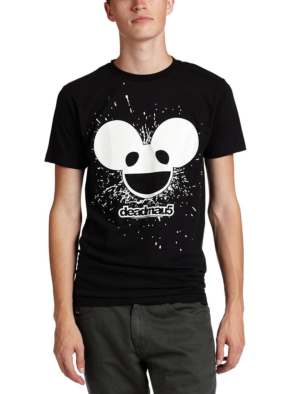FEA Merchandising Mens Deadmau5 Burst Mau Logo Glow Lightweight T-Shirt