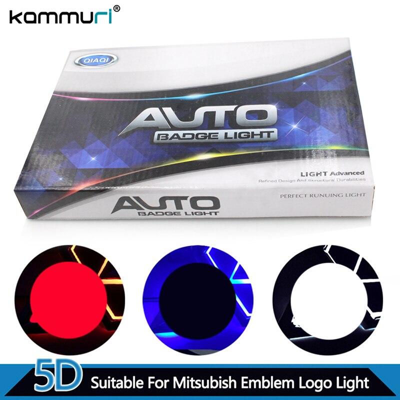 KAMMURI Car Styling 5D Rear Badge Logo Light for Mitsubishi GALANT Lancer LIONCEL Zinger ASX CUV Rear Emblem Light
