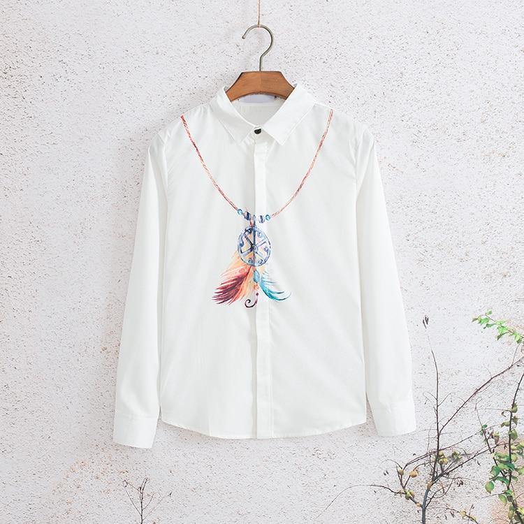 2019 New Blusas Camiseta Masculina Japanese Art Necklace Long sleeved Shirt Male Student Korean Version Trend Slimming Bottom