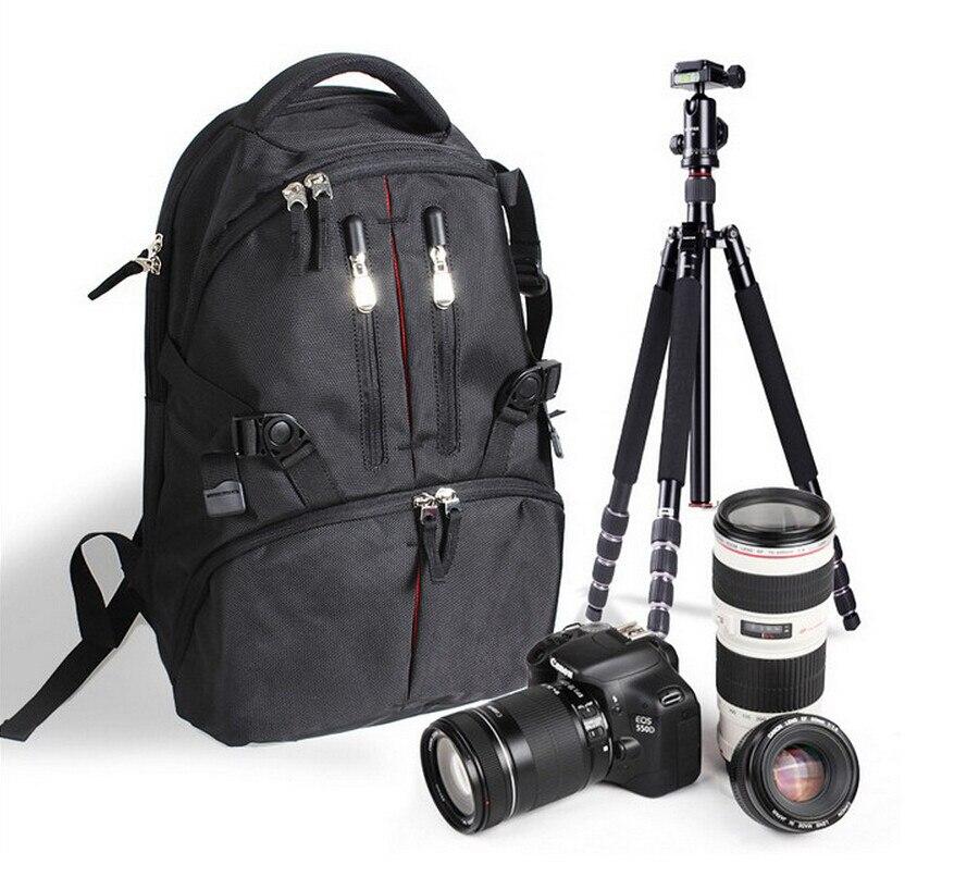Étanche Durable Photographie sac à dos Caméra Sac À Dos Cas pour Nikon Canon 550D 60D 7D 5DII 500D 450D 1000D DSLR Caméras